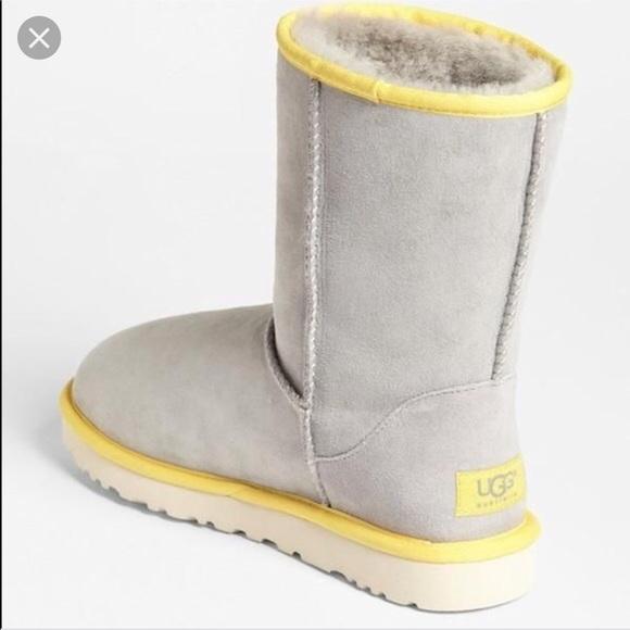 748c0701477 Classic short gray and yellow uggs